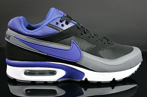 Nike Air Classic BW Textile Black Deep Royal Blue Dark Grey Sneakers 358797-041