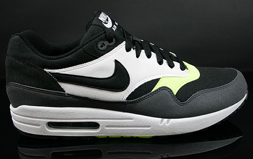 Nike Air Max 1 Black Anthracite Volt White Sneakers 308866-022