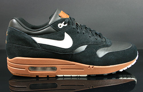 Nike Air Max 1 Premium Black Sail Hazelnut Sneakers 512033-001