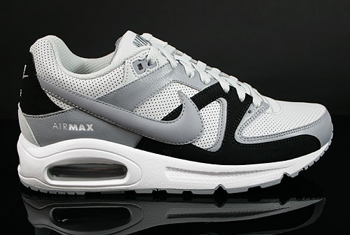 Nike Air Max Command Leather Pure Platinum Stealth Black White Sneakers 409998-099