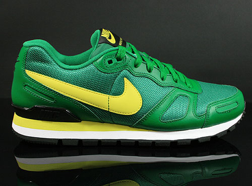 Nike Air Waffle Trainer Pine Green Yellow White Black Sneakers 429628-370