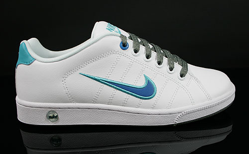 Nike Court Tradition 2 White Imperial Blue Bright Turquoise Sneakers 315134-136