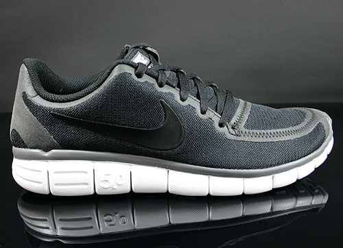 Nike Free 5.0 V4 Black White Dark Grey Sneakers 511282-011