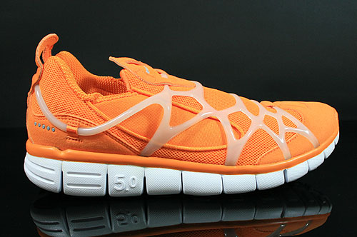Nike Kukini Free Vivid Orange Medium Grey White Sneakers 511444-801