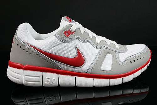 Nike Free Waffle AC White Sport Red Wolf Grey Sneakers 443913-161