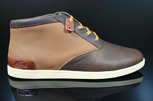Lacoste Fairbrooke 11 SRM LTH Brown Tan Sneakers 7-24SRM3410BT1
