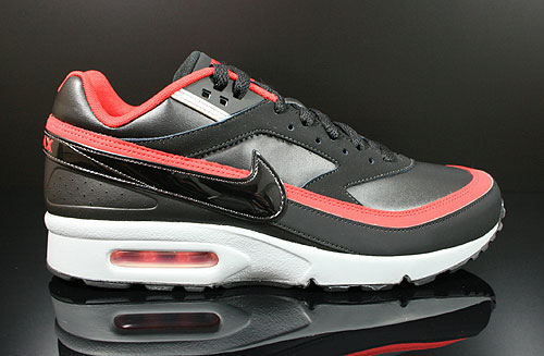Nike Air Classic BW Black Wolf Grey University Red Sneakers 309210-096