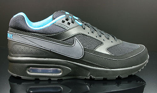 Nike Air Classic BW Textile Black Anthracite Dynamic Blue Sneakers 358797-044