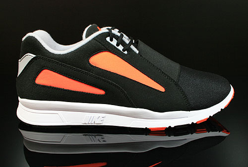 Nike Air Current Black Wolf Grey Total Orange Sneakers 518161-011