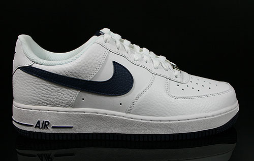 Nike Air Force 1 Low White Midnight Navy Sneakers 488298-120