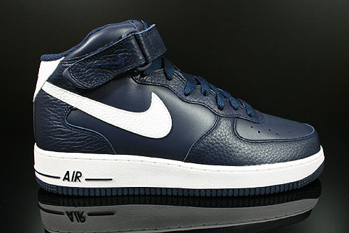 Nike Air Force 1 Mid Obsidian White Sneakers 315123-404