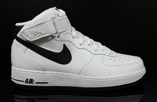 Nike Air Force 1 Mid White Black Sneakers 315123-117