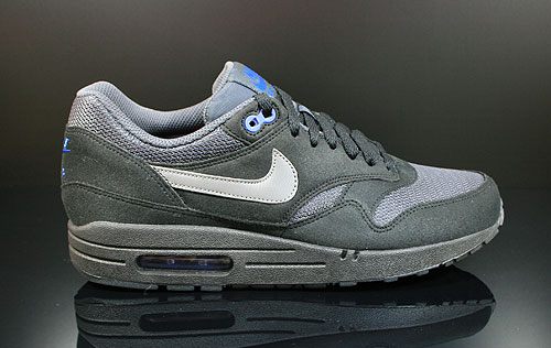 Nike Air Max 1 Black Dark Grey Anthracite Sneakers 308866-040