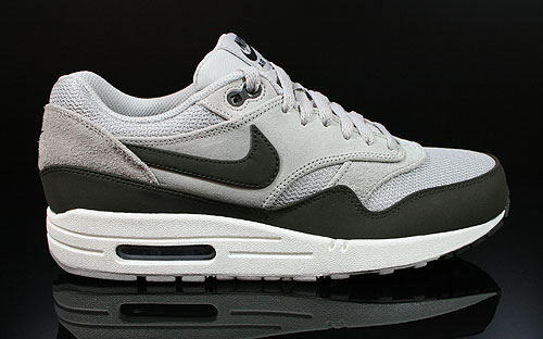 Nike Air Max 1 Premium Granite Deep Smoke Black Sneakers 512033-010