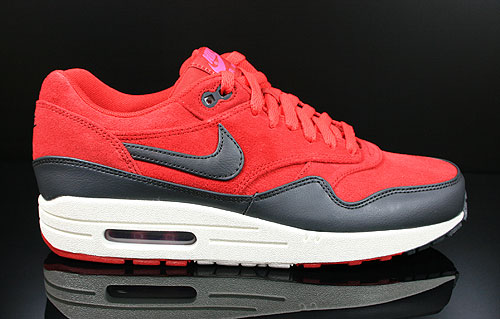 Nike Air Max 1 Premium Gym Red Anthracite Sail Rave Pink Sneakers 512033-606