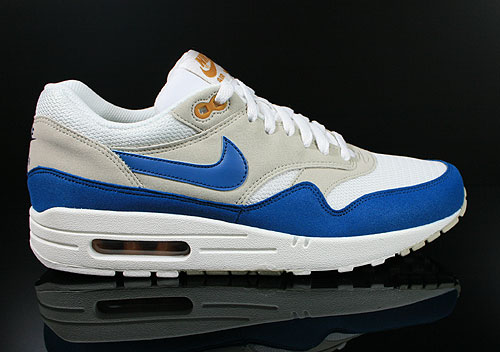 Nike Air Max 1 Summit White Shaded Blue Sandtrap 308866-117