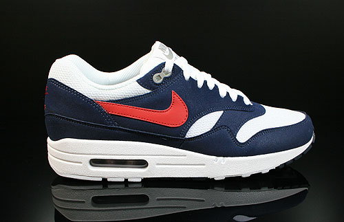 Nike Air Max 1 White Gym Red Thunder Blue Grey Sneakers 308866-110