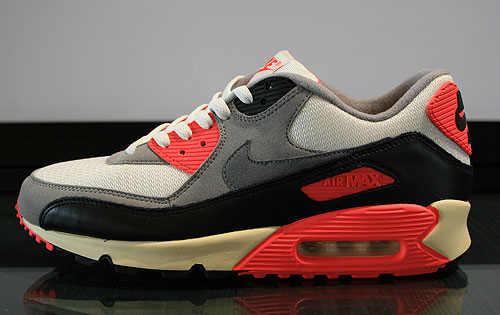 Nike Air Max 90 OG Sail Cool Grey Medium Grey Infrared Sneakers 543361-161