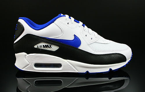 Nike Air Max 90 White Game Royal Black Sneakers 325018-117