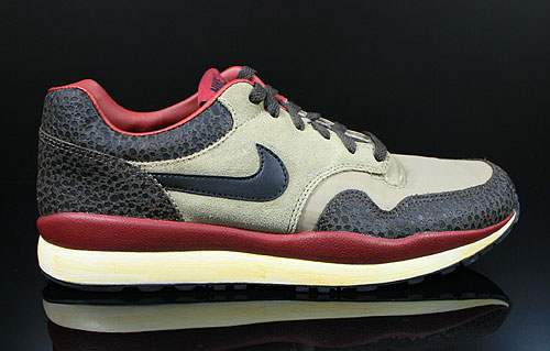 Nike Air Safari Vintage Bamboo Black Brown Red Sneakers 525245-226
