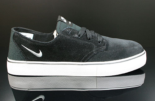 Nike Braata Leather Black White Silver Sneakers 477650-010