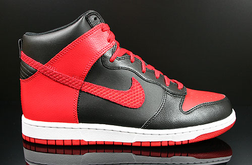 Nike Dunk High Black Sport Red White Sneakers 317982-051