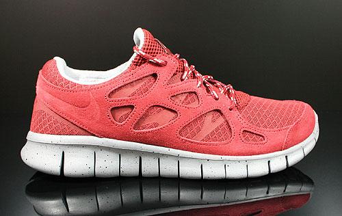 Nike Free Run+ 2 Team Red Metallic Silver Black Sneakers 537732-660