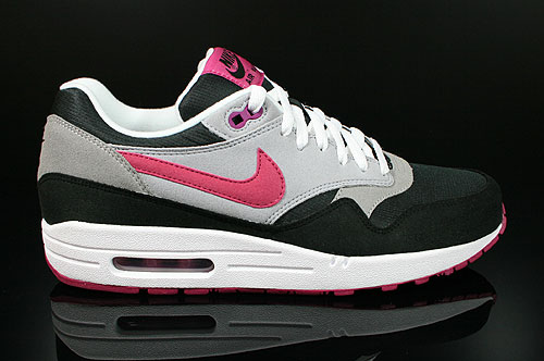 Nike WMNS Air Max 1 Black Rave Pink Wolf Grey Sneakers 319986-060