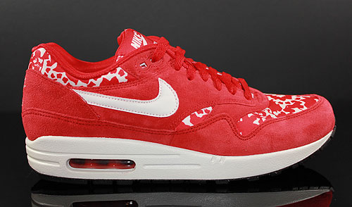 Nike WMNS Air Max 1 Sport Red Sail Sneakers 528898-600
