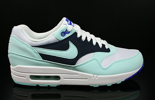 Nike WMNS Air Max 1 White Mint Candy Obsidian Game Royal Sneakers 319986-102