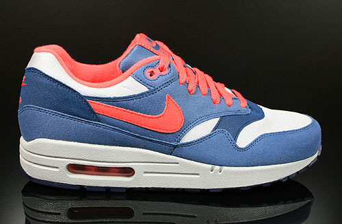 Nike WMNS Air Max 1 Wolf Grey Sunburst Utility Blue Sneakers 319986-022