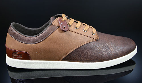 Lacoste Gilford 5 SRM LTH Brown Tan Sneakers 7-24SRM2278BT1