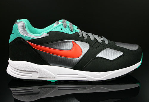 Nike Air Base 2 Cool Grey Team Orange Black Atomic Teal Sneakers 554705-081