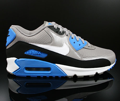 Nike Air Max 90 Essential Sport Grey White Black Photo Blue Sneakers 537384-004