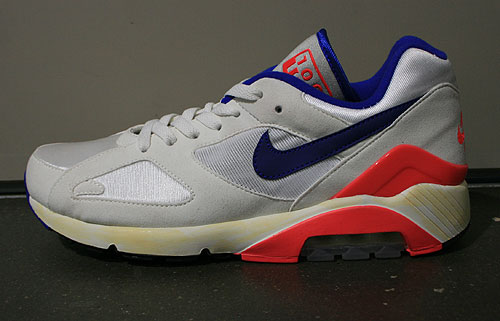 Nike Air 180 OG Sail Ultramarine Solar Red Black Sneakers 559604-146