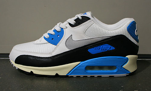 Nike Air Max 90 OG Sail Neutral Grey Laser Blue Black Sneakers 543361-104