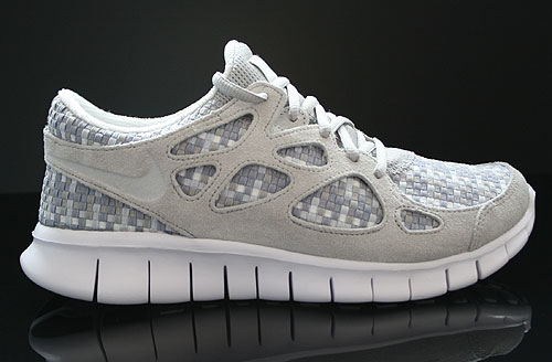 Nike Free Run 2 Woven Pure Platinum Granite Stadium Grey Sneakers 573920-001