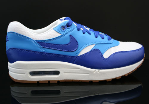 Nike WMNS Air Max 1 Vintage Sail Hyper Blue Blitz Blue Gum Medium Brown Sneakers 555284-105