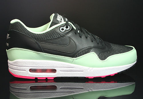 Nike Air Max 1 FB Black Fresh Mint Pink Flash Sneakers 579920-066
