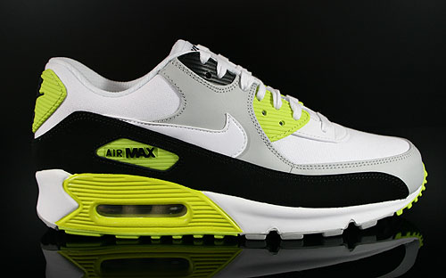 Nike Air Max 90 Premium Strata Grey White Black Cyber Sneakers 333888-018
