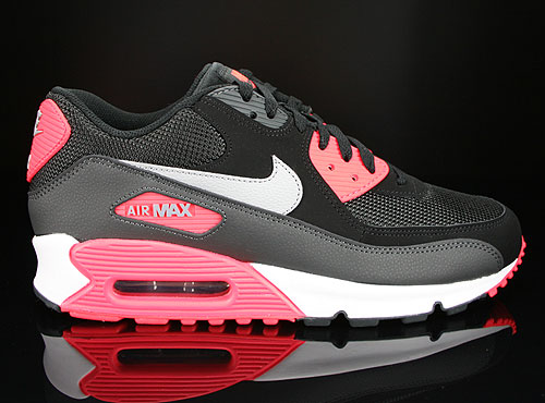 Nike Air Max 90 Essential Black Wolf Grey Atomic Red Anthracite Sneakers 537384-006