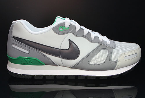 Nike Air Waffle Trainer Pure Platinum Dark Grey White Green Sneakers 429628-020