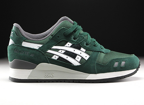 Asics Gel Lyte III Dark Green White H5Z2N-8001 - Purchaze e17966e32