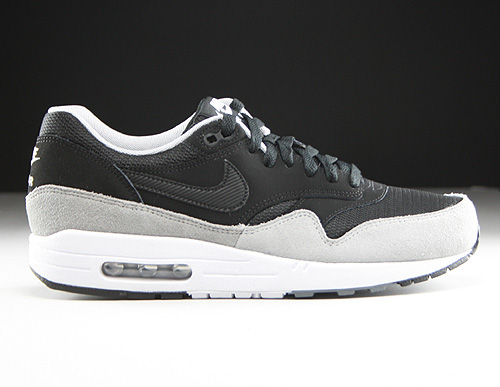 Nike Air Max 1 Essential Black Black Flint Silver Sneakers 537383-021