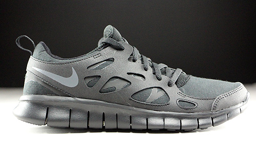 Nike Free Run 2 GS Black Dark Grey Sneakers 443742-023