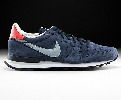 Nike Internationalist Leather Dark Obsidian Dove Grey Daring Red Natural Sneakers 631755-402