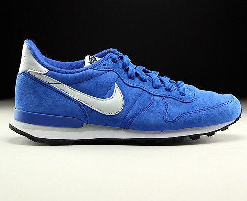 Nike Internationalist Leather Game Royal Pure Platinum Black White Sneakers 631755-403