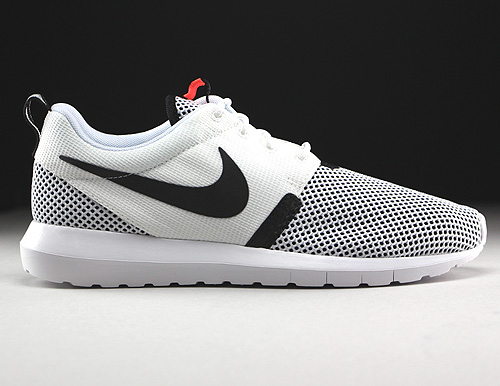 Nike Rosherun NM BR White Black Hot Lava Sneakers 644425-100