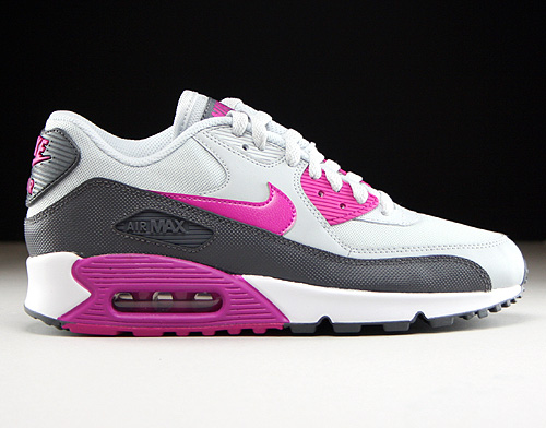 Nike WMNS Air Max 90 Essential Pure Platinum Fuchsia Flash Dark Grey White Sneakers 616730-013