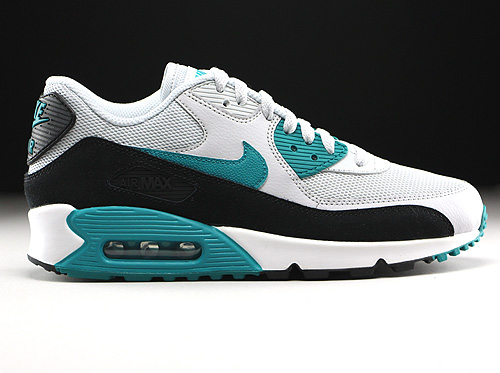 Nike WMNS Air Max 90 Essential Pure Platinum Radiant Emerald Black Summit White Sneakers 616730-017